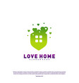 love home logo design concept business love house vector image vector image