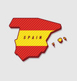 map of spain modern 3d style vector image