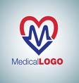 medical logo 3 vector image vector image