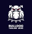 modern dog bulldog mascot logo vector image