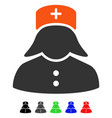 nurse flat icon vector image vector image
