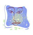 one line female portrait design hand drawn vector image vector image