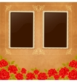 Page of photo album Vintage background with old vector image vector image