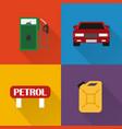 petrol station modern concept design flat vector image vector image