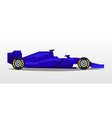 purple racing bolid sports car quick transport vector image vector image