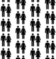 seamless pattern with people silhouettes vector image vector image