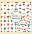 set birthday seamless patterns can be used for vector image