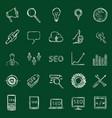 set chalk seo icons vector image vector image