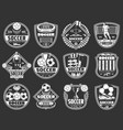 soccer sport badges football league club icons vector image