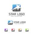 star logo concept design vector image vector image