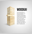 the tower from white wooden texture blocks and vector image