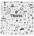 travel transportation - hand drawn doodle set vector image vector image