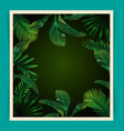 tropical leaf pattern poster vector image vector image