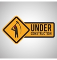 Under construction design tool icon isolated vector image vector image