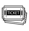 vintage monochrome two cinema tickets template vector image vector image