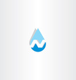 water drop letter n icon vector image vector image
