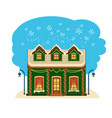 winter house collection one of set vector image vector image