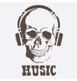skull Music style vector image