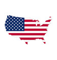 usa flag map contour flat style vector image