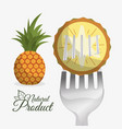 pineapple food natural product diet vector image