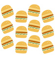 burger pattern vector image