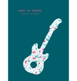 abstract colorful drops guitar music vector image