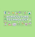 agriculture technology word concepts banner
