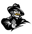 American cowboy with revolver gun vector image vector image