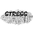 are you stressed out text word cloud concept vector image vector image