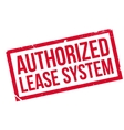 Authorized Lease System rubber stamp vector image vector image