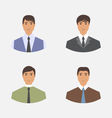 Avatar set front portrait office employee vector image vector image