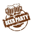 beer stamp vector image vector image