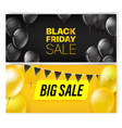 black friday banners with air balloons vector image