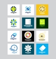 Business corporate logo set vector image vector image