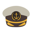 captain hat flat style vector image