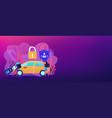 car alarm system concept banner header vector image vector image