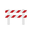 color realistic road barrier for traffic vector image
