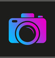 colorful camera logo camera symbol for web app vector image vector image