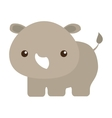 cute rhino isolated icon vector image vector image