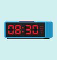 digital alarm clock classic vector image