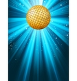 disco party background vector image vector image