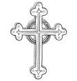 doodle catholic cross vector image