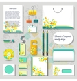 Elements of corporate identity for design vector image