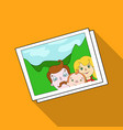 family photo portrait icon in flat style isolated vector image