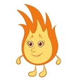 fire smiley vector image