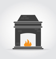 Fireplace Black Icon vector image