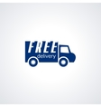 free delivery shipping 24 hour and fast vector image vector image