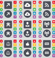Full screen Cloud RSS Wrenches Avatar Wi-Fi Scales vector image vector image