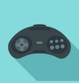 game joystick icon flat style vector image vector image