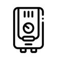 gaz boiler heating system equipment icon vector image